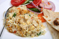 Chicken fried rice close-up Royalty Free Stock Images