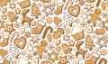 Gingerbread ginger cookie cookies bisquit sweets different set setting Christmas xmas holiday seamless pattern. Vector beautiful