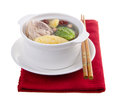 Chicken and herb soup, Chinese food style. Royalty Free Stock Photo