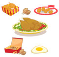 Chicken illustration of mized clipart Stock Photo