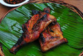 Chicken inasal grilled chicken food from the philippines is a charcoal barbecue marinated in local Royalty Free Stock Photography
