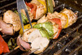 Chicken kebab barbecue Royalty Free Stock Photo