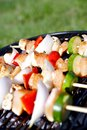 Chicken Kebob Grill Royalty Free Stock Photo