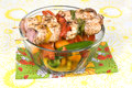 Chicken kebob skewers with bell peppers Royalty Free Stock Photo