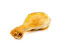 Chicken leg close-up isolated on a white Royalty Free Stock Photo