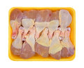 Chicken Legs In Tray Top View Royalty Free Stock Photography