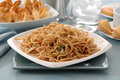 Chicken Lo Mein Royalty Free Stock Photography
