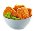 Chicken nuggets in a bowl Royalty Free Stock Photo