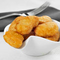Chicken nuggets a bowl with on a set table Stock Images