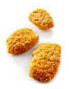 Chicken nuggets on a white background Royalty Free Stock Images