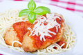 Chicken parmigiana Stock Photos