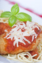 Chicken parmigiana Royalty Free Stock Images