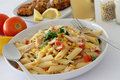 Chicken Pasta Royalty Free Stock Photo