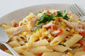 Chicken Pasta Royalty Free Stock Photos