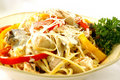 Chicken Pasta with Peppers Royalty Free Stock Photography