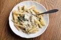 Chicken Penne Pesto Italian Pasta Royalty Free Stock Photo