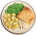 Chicken Pie & New Potatoes Royalty Free Stock Images