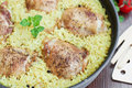 Chicken pilaf Royalty Free Stock Photo