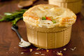 Chicken pot pie closeup of a Stock Images