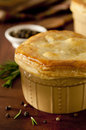 Chicken pot pie closeup of a Stock Photos