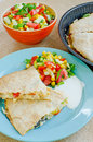 Chicken Quesadillas with  Cheese Royalty Free Stock Photo