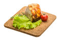 Chicken roll with salad and thyme Royalty Free Stock Image
