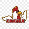 Chicken rooster on transparent background. vector