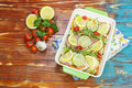 Chicken with rosemary and lemon Royalty Free Stock Photo