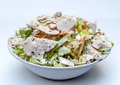 Chicken salad in bowl Royalty Free Stock Photo
