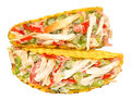 Chicken And Salad Filled Tacos Royalty Free Stock Photo