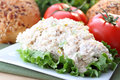 Chicken salad ready for sandwich Royalty Free Stock Photography
