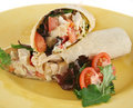 Chicken Salad Wrap Royalty Free Stock Image