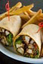 Chicken salad wrap Royalty Free Stock Photos