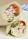 Chicken Salad Wrap Sandwich Stock Photos