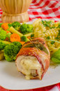 Chicken saltimbocca Stock Photo