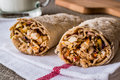 Chicken shawarma durum kebab with ayran or buttermilk / Tantuni Royalty Free Stock Photo
