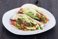 Chicken soft taco mexican food Royalty Free Stock Photos