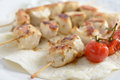 Chicken souvlaki Royalty Free Stock Photo