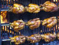 Chicken on a spit Royalty Free Stock Photo