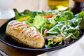 Chicken steak fresh salad Stock Image