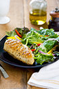 Chicken steak fresh salad Stock Photography