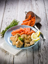 Chicken  stew with carrots Stock Photo
