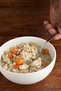 Chicken stew hot bowl of fresh homemade traditional soup Royalty Free Stock Photo