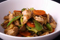 Chicken stir fry Stock Photography