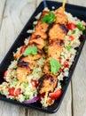 Chicken Tikka kebab meal Royalty Free Stock Photo