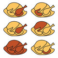 Chicken or turkey illustration Stock Images