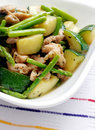 Chicken vegetables stirfry Royalty Free Stock Photo