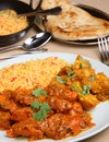 Chicken Vindaloo Curry Meal Royalty Free Stock Photography