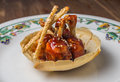 Chicken wings with barbeque sauce Royalty Free Stock Photo