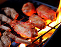 Chicken wings on grill and tenders barbeque Royalty Free Stock Photography